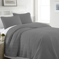 Home Collection Square Twin/Twin XL Quilt Set in Grey