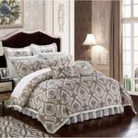 Chic Home Akim 13-Piece King Comforter Set in Beige