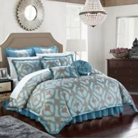 Chic Home Akim 13-Piece King Comforter Set in Blue
