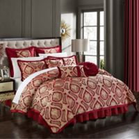 Chic Home Akim 13-Piece King Comforter Set in Red