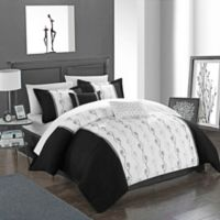 Chic Home Lystra 10-Piece King Comforter Set in Black