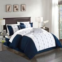 Chic Home Lystra 10-Piece King Comforter Set in Navy