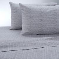 Therapedic® 100% Ring Spun Cotton Flannel King Sheet Set in Grey/White