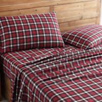 Morgan Home Plaid King Sheet Set in Red