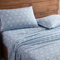 Morgan Home Geometric Twin Sheet Set in Blue