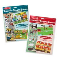 Melissa & Doug® 2-Pack Around the Farm and Town Transfer Sticker Scenes
