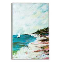 Beach Surf I Framed Canvas Print