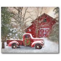 Courtside Market™ Barn With Truck 16-Inch x 1.5-Inch Framed Wrapped Canvas