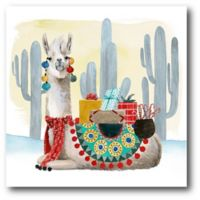 Courtside Market™ Holiday Llama I 16-Inch x 1.5-Inch Framed Wrapped Canvas