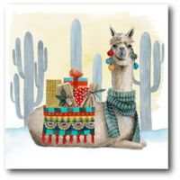 Courtside Market™ Holiday Llama Ii 16-Inch x 1.5-Inch Framed Wrapped Canvas