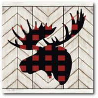 Courtside Market™ Merry & Bright Plaid-mosses 16-Inch x 1.5-Inch Framed Wrapped Canvas