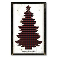 Courtside Market™ Merry & Bright Plaid 16-Inch x 1.5-Inch Framed Wrapped Canvas