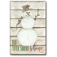 Courtside Market™ Snowman 12-Inch x 1.5-Inch Framed Wrapped Canvas