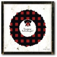 Courtside Market™ Merry & Bright Plaid Wreath 16-Inch x 1.5-Inch Framed Wrapped Canvas