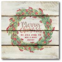 Courtside Market™ Merry Christmas 16-Inch x 1.5-Inch Framed Wrapped Canvas