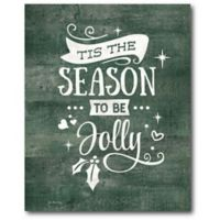 Courtside Market™ Season To Be Jolly 16-Inch x 1.5-Inch Framed Wrapped Canvas