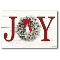 Courtside Market™ Christmas Joy 12-Inch x 1.5-Inch Framed Wrapped Canvas