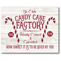 Courtside Market™ Candy Cane Factory 16-Inch x 1.5-Inch Framed Wrapped Canvas