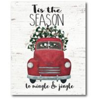 Courtside Market™ Mingle & Jingle 16-Inch x 1.5-Inch Framed Wrapped Canvas