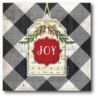 Courtside Market™ Christmas Plaid Joy 16-Inch x 1.5-Inch Framed Wrapped Canvas