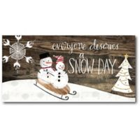 Courtside Market™ Snow Day 12-Inch x 1.5-Inch Framed Wrapped Canvas