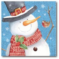 Courtside Market™ Snowman 16-Inch x 1.5-Inch Framed Wrapped Canvas