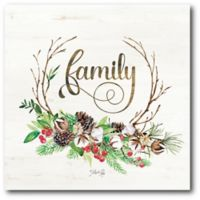 Courtside Market™ Holiday Family 16-Inch x 1.5-Inch Framed Wrapped Canvas