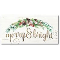 Courtside Market™ Merry Bright 12-Inch x 1.5-Inch Framed Wrapped Canvas