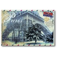 Courtside Market™ Postcard Paris 12-Inch x 1.5-Inch Framed Wrapped Canvas
