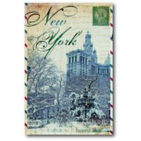 Courtside Market™ Postcard New York 12-Inch x 1.5-Inch Framed Wrapped Canvas