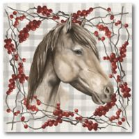 Courtside Market™ Horse Holiday 16-Inch x 1.5-Inch Framed Wrapped Canvas