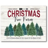 Courtside Market™ Christmas Tree Farm 16-Inch x 1.5-Inch Framed Wrapped Canvas