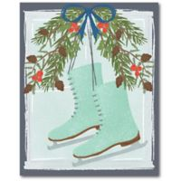 Courtside Market™ Iceskate Swag 16-Inch x 1.5-Inch Framed Wrapped Canvas