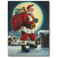Courtside Market™ Santa In The Moonlight 16-Inch x 1.5-Inch Framed Wrapped Canvas