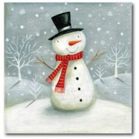Courtside Market™ Jolly Snowman 16-Inch x 1.5-Inch Framed Wrapped Canvas