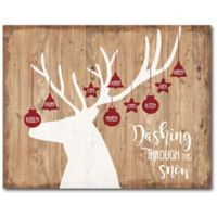 Courtside Market™ Dashing Through The Snow 16-Inch x 1.5-Inch Framed Wrapped Canvas