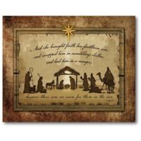 Courtside Market™ Firstborn Nativity 16-Inch x 1.5-Inch Framed Wrapped Canvas
