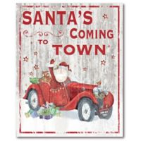 Courtside Market™ Santa's Coming To Town 16-Inch x 1.5-Inch Framed Wrapped Canvas