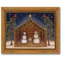 Courtside Market™ Snowman Nativity 16-Inch x 1.5-Inch Framed Wrapped Canvas