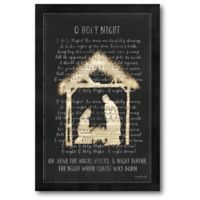 Courtside Market™ O Holy Night 12-Inch x 1.5-Inch Framed Wrapped Canvas