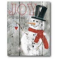Courtside Market™ Let It Snow Snowman 16-Inch x 1.5-Inch Framed Wrapped Canvas