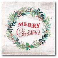 Courtside Market™ Merry Christmas Wreath 16-Inch x 1.5-Inch Framed Wrapped Canvas