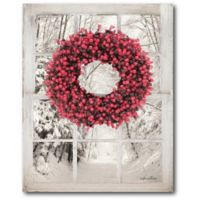 Courtside Market™ Beaded Wreath View Ii 16-Inch x 1.5-Inch Framed Wrapped Canvas