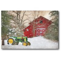 Courtside Market™ Winter At The Barn 16-Inch x 1.5-Inch Framed Wrapped Canvas