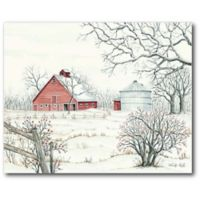 Courtside Market™ Winter Barn 16-Inch x 1.5-Inch Framed Wrapped Canvas