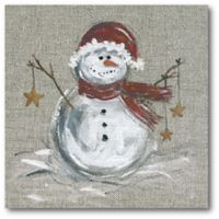 Courtside Market™ Winter Snowman I 16-Inch x 1.5-Inch Framed Wrapped Canvas