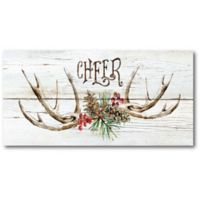 Courtside Market™ Christmas Cheer 12-Inch x 1.5-Inch Framed Wrapped Canvas
