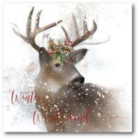 Courtside Market™ Winter Wonderland Deer 16-Inch x 1.5-Inch Framed Wrapped Canvas