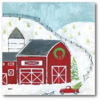 Courtside Market™ Christmas Barn 16-Inch x 1.5-Inch Framed Wrapped Canvas
