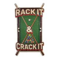 Rack It Crack It 12-Inch x 21.25-Inch Metal Wall Art in Green